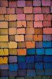 Laços de estrada de ferro coloridos nos multicolors fotos de stock royalty free