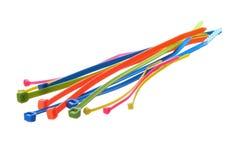 Laços de fio da cor de Muti, laços do fecho de correr fotografia de stock