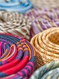 Laços de seda coloridos fotos de stock