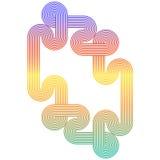 Laços do arco-íris Imagens de Stock Royalty Free