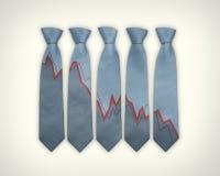 Laços financeiros do negócio Imagens de Stock Royalty Free