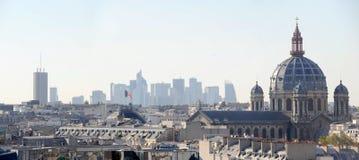 La从Paris'roof -法国的防御视图 库存照片