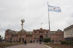 La住处政府Rosada议院,布宜诺斯艾利斯好的阿根廷总统 免版税库存照片