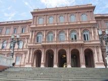 La住处政府Rosada议院,布宜诺斯艾利斯好的阿根廷总统 库存照片
