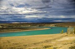 La利昂娜河,巴塔哥尼亚, Argentin 免版税库存照片