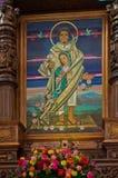 La别墅的de瓜达卢佩河,墨西哥城印地安人教堂 库存图片