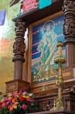 La别墅的de瓜达卢佩河,墨西哥城印地安人教堂 免版税库存照片