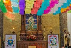 La别墅的de瓜达卢佩河,墨西哥城印地安人教堂 免版税库存图片
