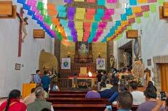 La别墅的de瓜达卢佩河,墨西哥城印地安人教堂 库存照片