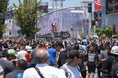 LA史丹利杯国王游行庆祝 库存图片
