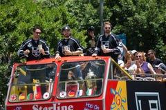 LA史丹利杯国王游行庆祝 图库摄影