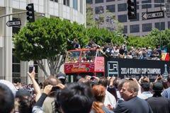 LA史丹利杯国王游行庆祝 库存照片