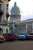 从La哈瓦那的国会大厦 免版税图库摄影
