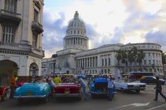 从La哈瓦那的国会大厦 免版税库存图片