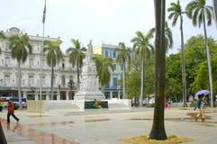 La哈瓦那,中心广场 库存照片