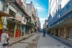 从La哈瓦那,古巴的街道视图 免版税图库摄影