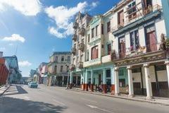 从La哈瓦那,古巴的Neptuno街道 库存图片