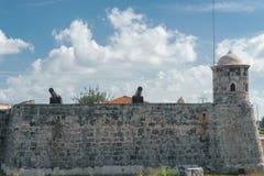 La哈瓦那,古巴:古色古香的殖民地西班牙堡垒 库存照片