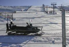 La在中央系统的Covatilla滑雪场,萨拉曼卡,西班牙 库存图片