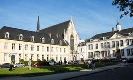 La坎布尔,伊克塞尔,布鲁塞尔,比利时修道院  免版税库存图片