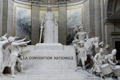La大会Nationale雕象在万神殿,巴黎 免版税库存图片