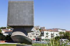 La太特Carree雕塑在尼斯,法国 免版税图库摄影