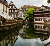 La小的法国历史的房子在史特拉斯堡,法国 免版税库存照片
