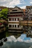 La小的法国历史的房子在史特拉斯堡 法国 免版税库存照片