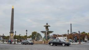 La巴黎,法国协和飞机广场  图库摄影