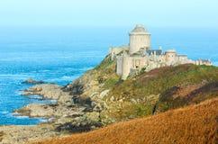 La拿铁城堡。外视图。(布里坦尼,法国) 库存图片