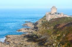 La拿铁城堡  外视图(布里坦尼,法国) 图库摄影
