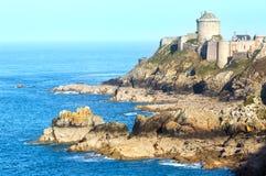 La拿铁城堡  外视图 (布里坦尼,法国) 库存图片