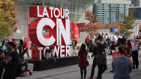 La游览加拿大国家电视塔在多伦多,加拿大 股票录像