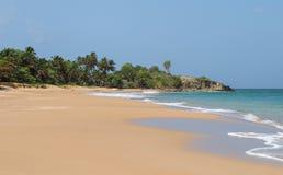 La珀尔海滩风景在巴斯特尔瓜德罗普 免版税库存照片
