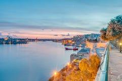La瓦莱塔全部港口,马耳他 库存图片