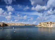 La瓦莱塔老镇在马耳他 图库摄影