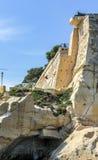 La瓦莱塔,马耳他城市墙壁  免版税图库摄影