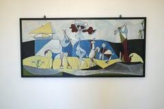 La生活之乐,绘毕加索,毕加索博物馆,安地比斯,法国 免版税库存照片