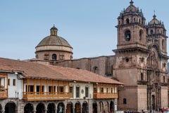 La耶稣教会Compania德赫苏斯公司在库斯科,秘鲁 免版税图库摄影