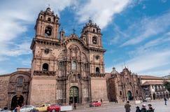 La耶稣教会Compania德赫苏斯公司在库斯科,秘鲁 免版税库存照片