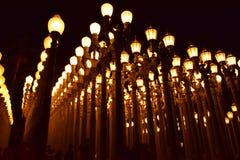 LA艺术中心近灯岗位 免版税图库摄影
