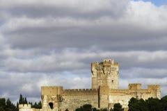 La莫塔岛,梅迪纳德尔坎波城堡  库存照片