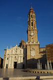 La萨瓦格萨Seo大教堂  免版税库存图片