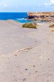 La被削去的海滩 免版税库存照片