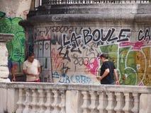 La议在法国 库存图片