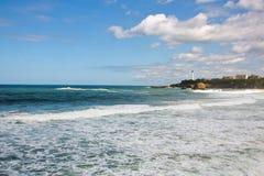 La重创的色球,伟大的海滩比亚利兹 库存图片
