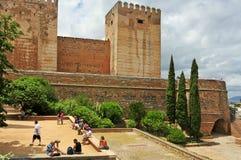 La阿尔罕布拉宫在格拉纳达,西班牙 免版税图库摄影