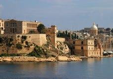 la马耳他全景瓦莱塔视图 免版税图库摄影