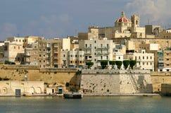la马耳他全景瓦莱塔视图 库存照片