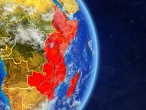 La África del Este en la tierra del planeta libre illustration